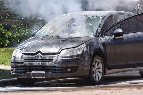 Fire Automobile Smoke Water