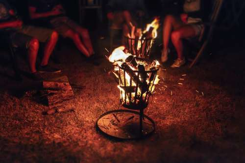 Fire Firepit Heat Wood Brand Cosy Campfire Vote