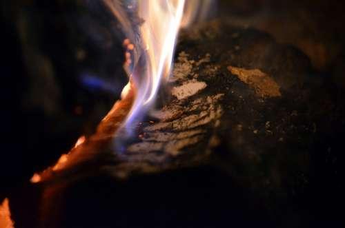 Fire Flame Wood Embers