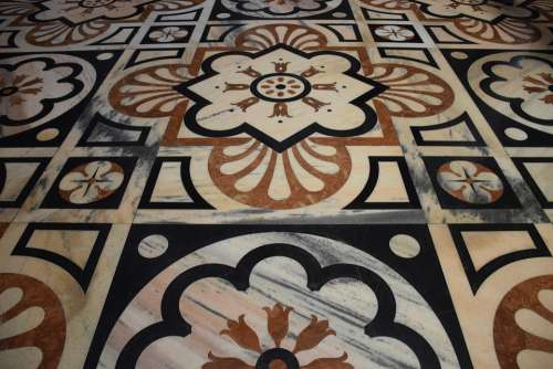 Floor Mosaic Casing Nice Color Church Old