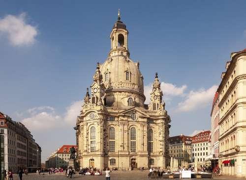 Germany Dresden Saxony Castle Frauenkirche Europe