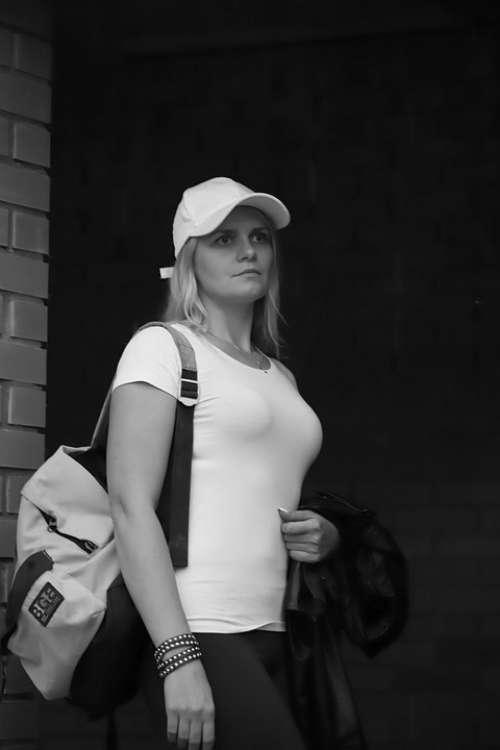 Girl Skate Brick Window Construction Baseball Cap