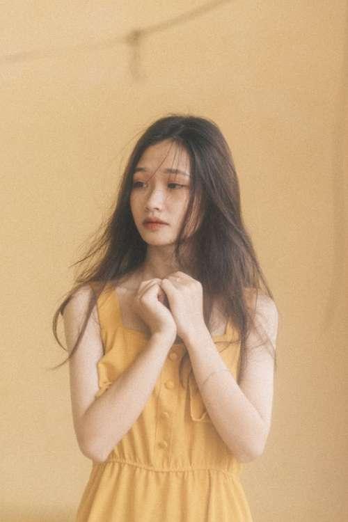 Girl Sad Portrait Alone Unhappy