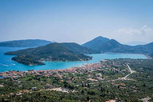 Greece Islands Sea Nature Nidri Lefkada Tourism