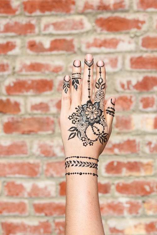 Henna Hands Mehendi Pattern Female Palms Design