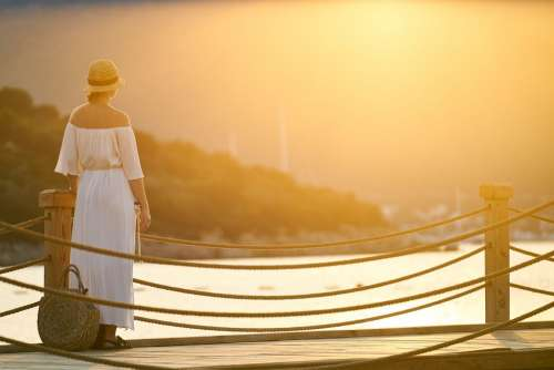 Holiday Woman Only Sunset Solar Romantic B Add
