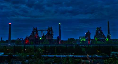 Industry Steel Building Ruhr Area Technology