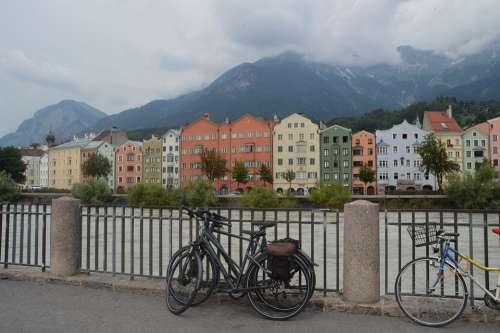 Innsbruck City Facade Houses Buildings Austria