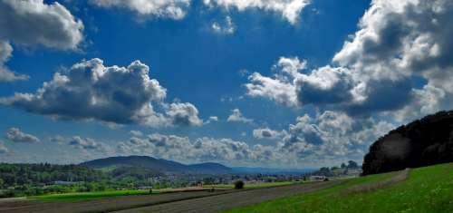Landscape Nature Meadow Clouds Sky Light Sun