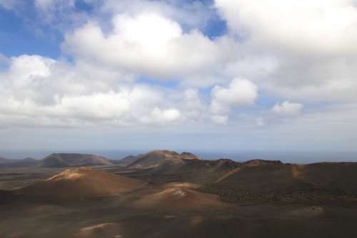 Lanzarote Landscape Island Nature Timanfaya