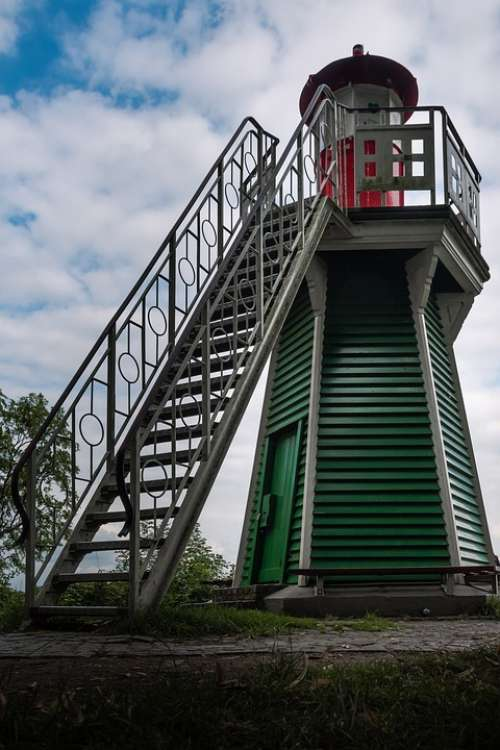 Lighthouse Elbe Hamburg Coast Water