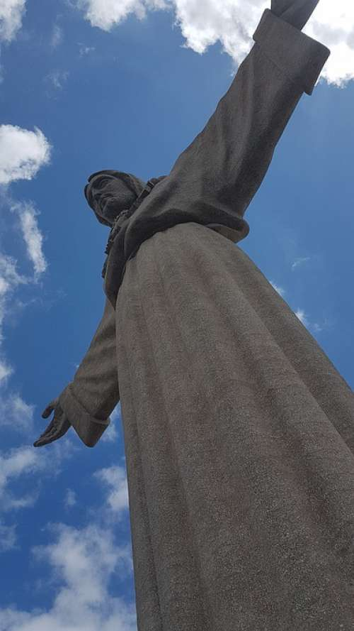 Lisbon Of Jesus Statue Jesu Statue Travel Tourism