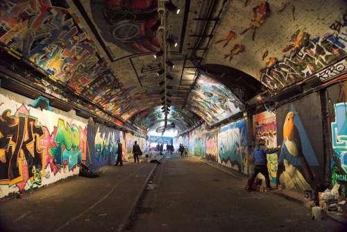 London Leake Street Tunnel Grafitti Lambeth