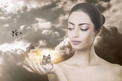 Manipulation Sumoringer Ahlete Woman Beauty Light
