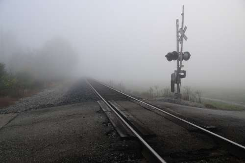 Miamisburg Ohio Miamisburg Railroad Foggy Morning
