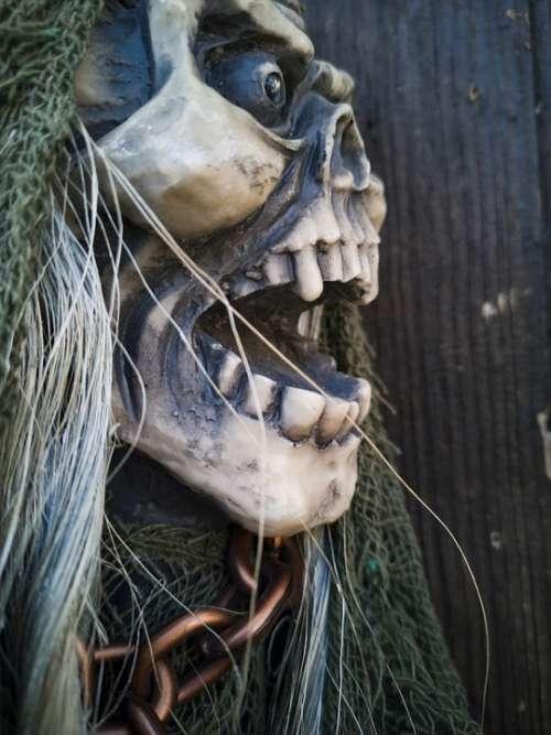 Monster Horror Skull Death Dead Mask Portrait