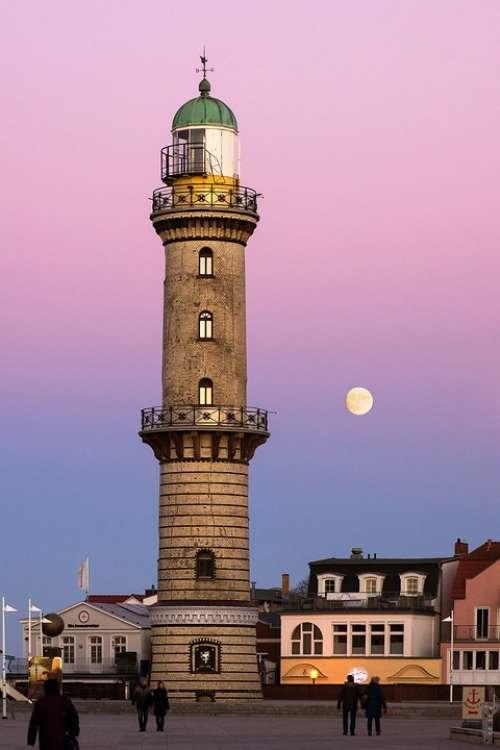 Moon Architecture Warnemünde Rostock Lighthouse