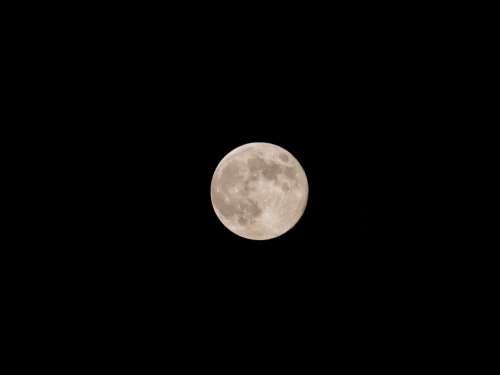 Moon Night Full Moon Sky Astronomy