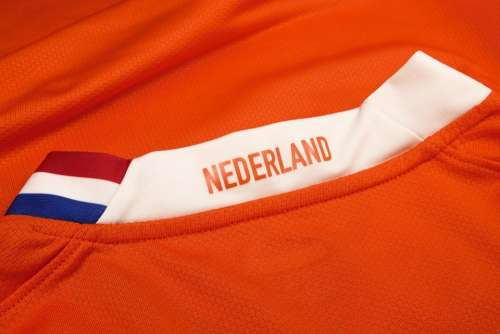 Netherlands Text Flag Orange Insignia Material