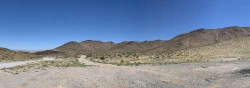 Nevada Desert Dry Dirt Road