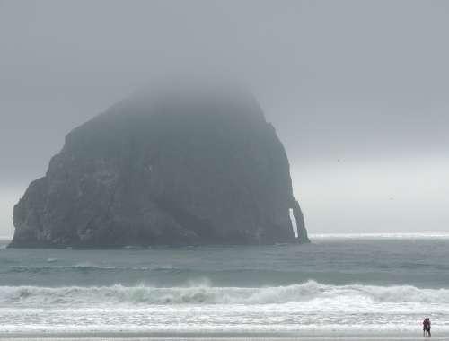 Ocean Fog Sea Mist Rock Sky Beach