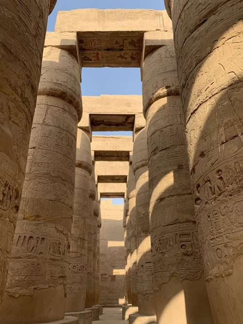 Old Monumental Scale Architecture Tourism Egypt