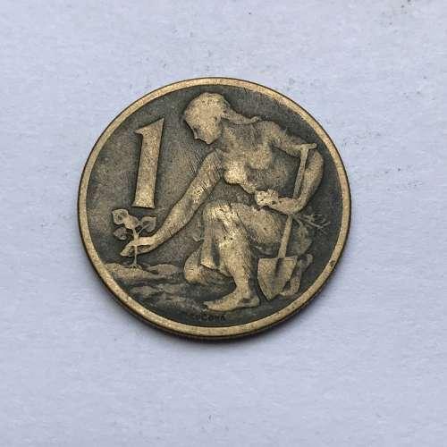 Old Foreign Coin 1962 Coin Czechoslovakian Republic