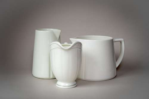Pitchers Milk Can White China Coffee Break Coffee