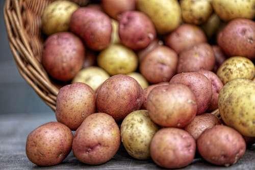 Potatoes Vegetables Food Nature Fresh