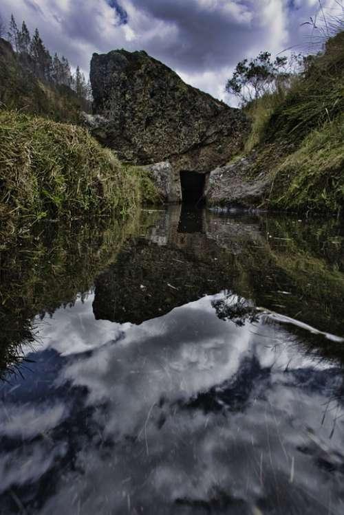 Reflection Mountain Landscape Mountains Lake