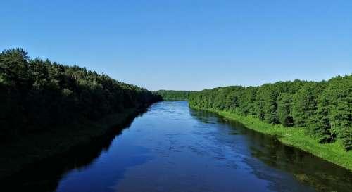 River Belarus Summer
