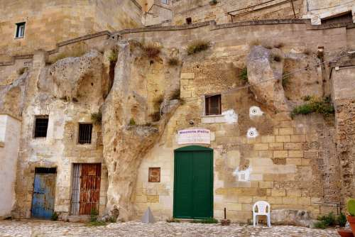Sassi Matera House Old Ancient Italy Cave