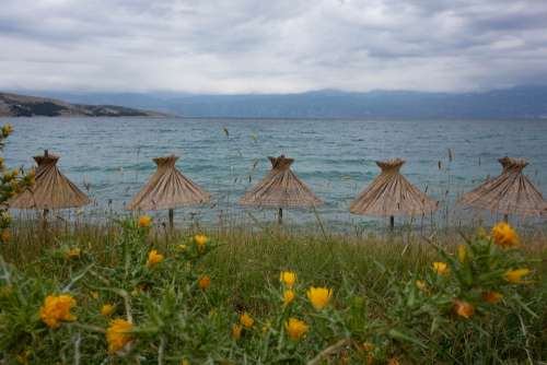 Sea Parasol Holidays Relaxation Water Beach