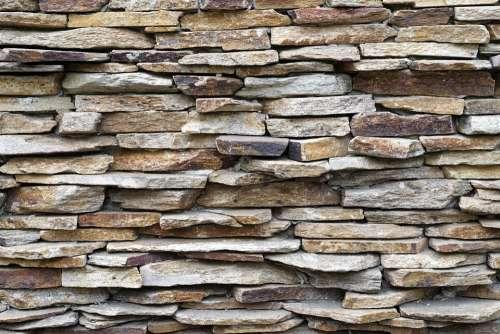 Section Wall Stones Texture Irregular Facade