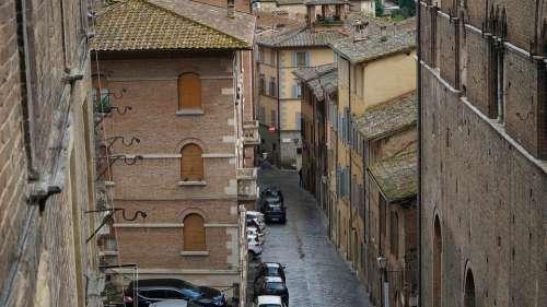 Siena Italy Street Alley Car Brick Cityscape
