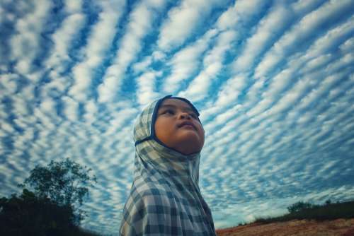 Sky Kid Beautiful Nature