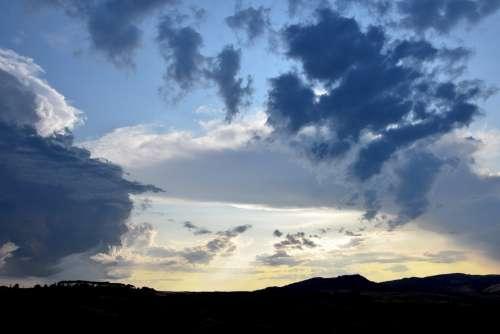 Sky Clouds Gloomy Nature Weather Atmosphere Dark