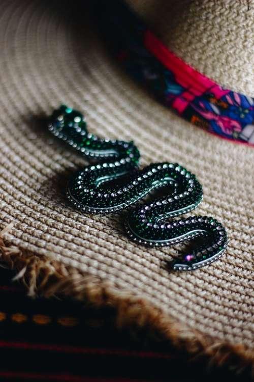 Snake Brooch Woman Handmade