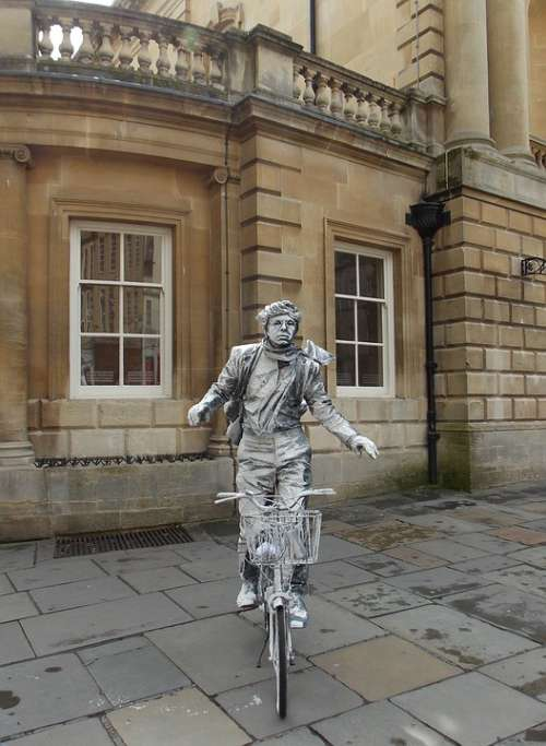 Statue Bicycle Bike Cyclist Outdoor People Artist