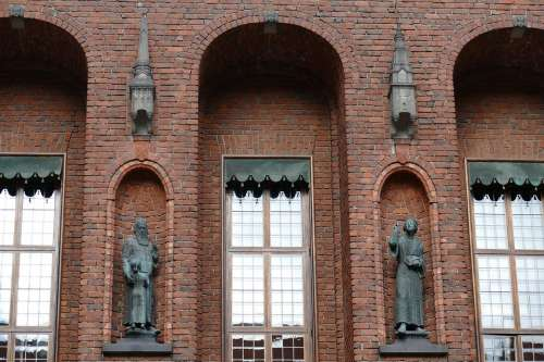 Stockholm Sweden City Town Home Brick Architecture