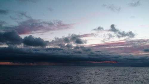 Sunset Atlantic Ocean Blue Sunrise Caribbean