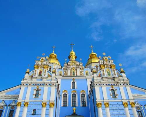 Temple Kiev Church Cathedral Christianity Sky