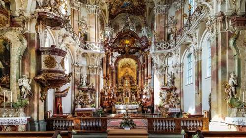 The Monastery Of Birnau Lake Constance Chapel Church