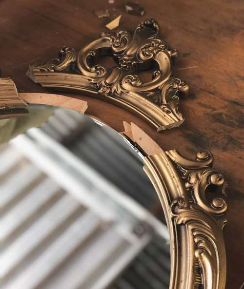 Vintage Mirror Frame Antique Decoration Design