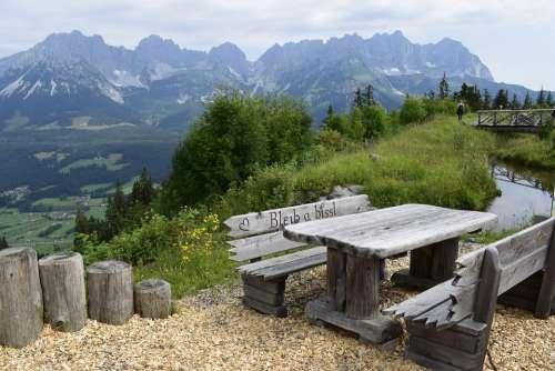 Wilderkaiser Nature Idyllic Austria