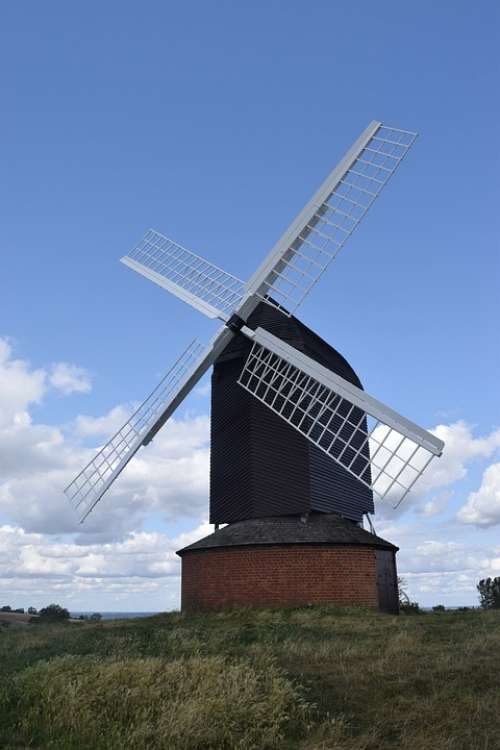 Windmill English Agriculture History Old Historic