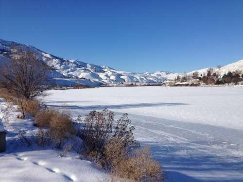 Winter Snow River