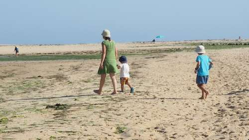 Woman Children Beach Mother People Mom Family