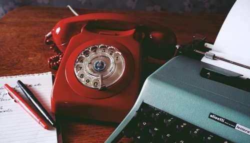 typing writing vintage telephone retro