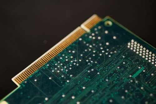 circuit card computer closeup technology